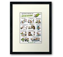 Captain Sustaino's Green Tips for the Eco-Conscious Office Goer  Framed Print