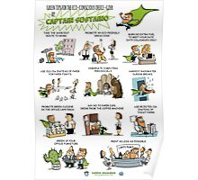 Captain Sustaino's Green Tips for the Eco-Conscious Office Goer  Poster