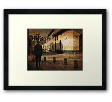 Walking on the Old City Framed Print