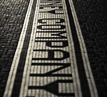 Sidewalk Advertisement by rbnikonphoto
