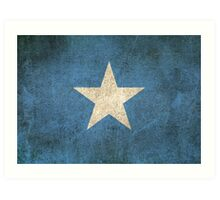 Old and Worn Distressed Vintage Flag of Somalia Art Print