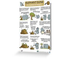 Elephant Dung- a Crapload of Magic Greeting Card