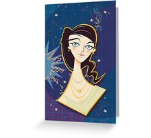 Star Girl Greeting Card