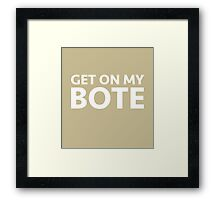 Get on My Bote | Jungle Cruise Framed Print