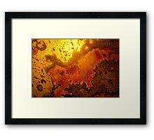 mapping of an abstract Framed Print