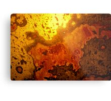 mapping of an abstract Metal Print