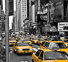 NYC Cabs - Times Square by Heath Morrison
