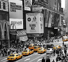 NYC Cabs - Times Square 2 by Heath Morrison