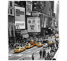NYC Cabs - Times Square 2 Poster