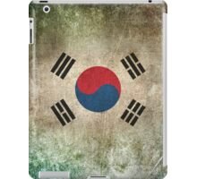 Old and Worn Distressed Vintage Flag of South Korea iPad Case/Skin
