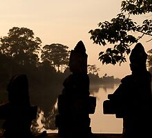 Entrance to Angkor Thom at Sunset by fab2can