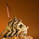 Iwo Jima monument at night by Heath Morrison