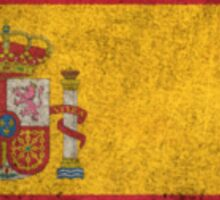 Old and Worn Distressed Vintage Flag of Spain Sticker