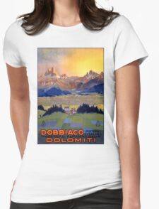 Dobbiaco Toblach Italy Vintage Travel Poster Restored Womens Fitted T-Shirt