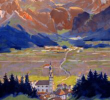 Dobbiaco Toblach Italy Vintage Travel Poster Restored Sticker