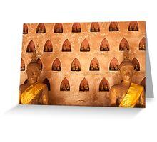 Buddhas at Wat Si Saket Greeting Card