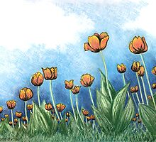 Tulips by Lisa Frances Judd~QuirkyHappyArt