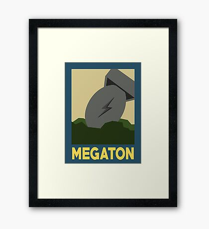 Retro Megaton Framed Print