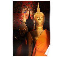 Laotian Buddha at Wat Xieng Thong Poster
