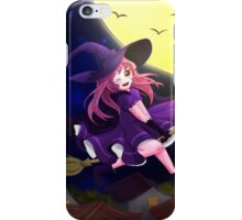 Happy flying little witch iPhone Case/Skin