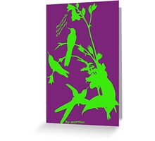 Green purple tailed comet Greeting Card