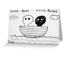 leaky boat Greeting Card