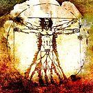 Vitruvian Man - Leonardo Da Vinci Tribute Art by Denis Marsili