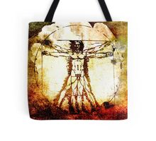 Vitruvian Man - Leonardo Da Vinci Tribute Art Tote Bag