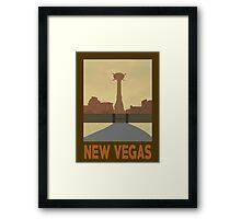 Retro New Vegas Framed Print