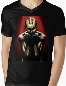Never Back Down Mens V-Neck T-Shirt