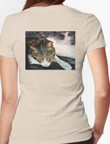 Night, Our Cat Womens Fitted T-Shirt