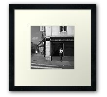 Cutting A Corner - Nancy, France Framed Print