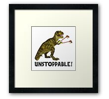 Tyrannosaurus Rex with Grabbers is UnStoppable Framed Print