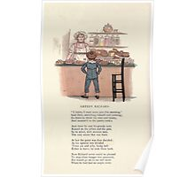 LIttle Ann and Other Poems by Jane and Ann Taylor art Kate Greenaway 1883 0060 Greedy Richard Poster