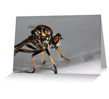 r o b b e r f l y  Greeting Card