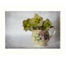 Flowers and jug Art Print