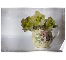 Flowers and jug Poster