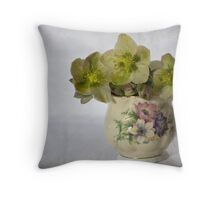 Flowers and jug Throw Pillow