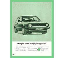 1980's Vw Golf Advert! Photographic Print
