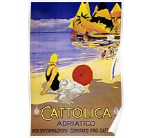 Cattolica Adriatico Italy Vintage Travel Poster Restored Poster
