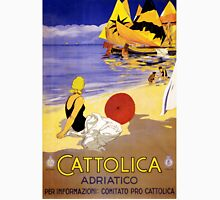 Cattolica Adriatico Italy Vintage Travel Poster Restored Unisex T-Shirt