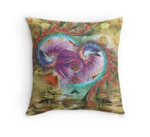 11-psychedelic abstract Throw Pillow