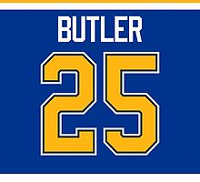 St. Louis Blues Chris Butler Jersey Back Phone Case by Russ Jericho