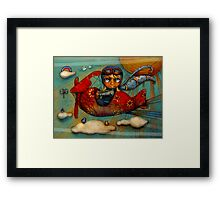 Little Red Plane Framed Print