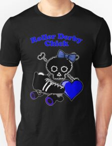 Roller Derby Chick (Blue) T-Shirt