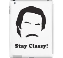 Ron Burgundy - Stay Classy iPad Case/Skin