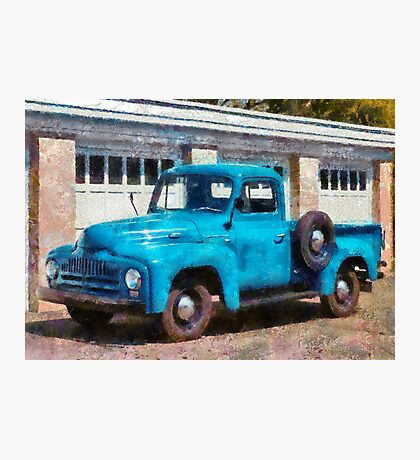 Truck - An International old truck Photographic Print