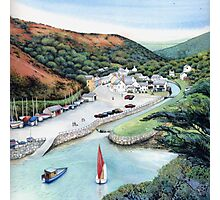 Solva Harbour, Pembrokeshire, West Wales. Photographic Print