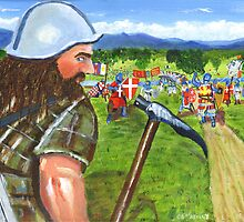 """""""Leading the charge"""" William Wallace at Stirling Bridge  by Stuart  Fellowes"""