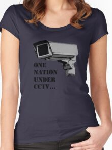 One nation Under CCTV Women's Fitted Scoop T-Shirt